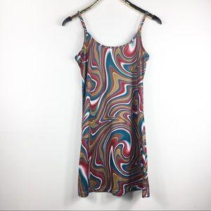 Vintage Psychedelic Dress Babydoll Skater S